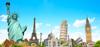 Famous monument of the world Royalty Free Stock Images