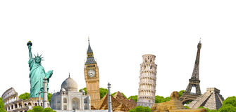 Famous monument of the world Royalty Free Stock Photos