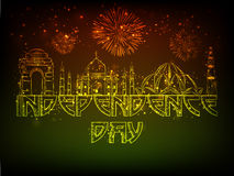 Famous monuments for Indian Independence Day. Stock Image