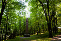 Famous monuments in Stramberk Sipka park. Beautiful famous monuments in Sipka park, Stramberk, Czech republic. Colorful landscape stock photos