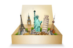 Famous monuments of the world Royalty Free Stock Images