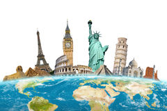Famous monuments of the world Royalty Free Stock Photo