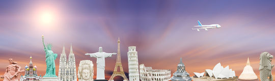 Famous monuments of the world Stock Photos