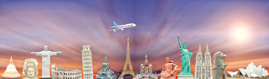 Famous monuments of the world Royalty Free Stock Photography