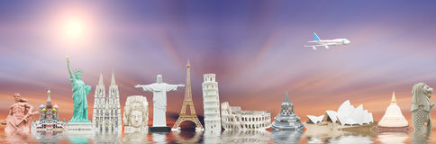 Famous monuments of the world Royalty Free Stock Photos