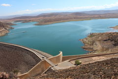 The famous Moroccan storage pond, near the Agadir. Royalty Free Stock Images