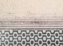 Famous mosaic sidewalk in Leblon Beach, Rio de Janeiro royalty free stock photo