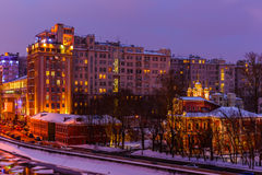 Famous Moscow House on Embankment Royalty Free Stock Image