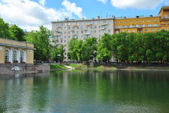 The famous Moscow old pond Royalty Free Stock Photo