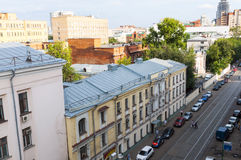 The famous Moscow old street Stock Photography
