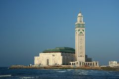 Famous Mosque in Casablanca royalty free stock photo