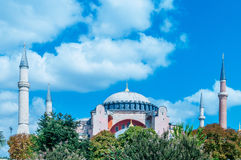 The famous mosque in turkish city of istanbul Stock Photography