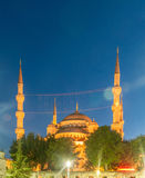 The famous mosque in turkish city of istanbul Royalty Free Stock Photography