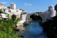 The Famous Mostar Bridge Royalty Free Stock Image