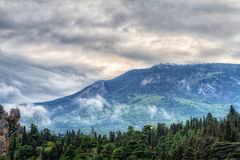 The famous mount of Ayu-Dag Royalty Free Stock Photo