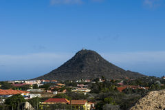The famous mountain Hooiberg located in Aruba. One of Aruba`s famous mountain Royalty Free Stock Photography