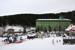 Famous mountain ski resort Stock Photography