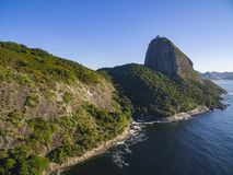 Famous mountain. Sugarloaf mountain in Rio de Janeiro. Brazil landscape. South America stock photo