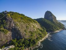 Famous mountain. Sugarloaf mountain in Rio de Janeiro. Brazil landscape. South America royalty free stock photography