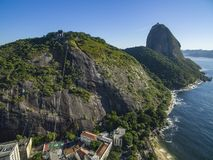 Famous mountain. Sugarloaf mountain in Rio de Janeiro. Brazil landscape. South America royalty free stock photos