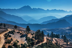 The famous mountains in China Royalty Free Stock Photo