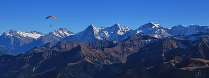 Famous mountains Eiger, Monch and Jungfrau Stock Photo