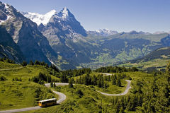 Famous mountains in Switzerland Royalty Free Stock Photo