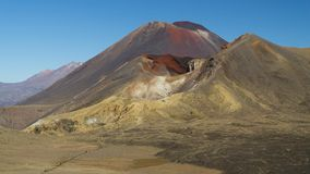 Famous Mt. Doom on the way across Tongariro national park, New Zealand stock image
