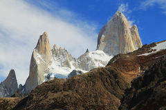 Famous Mt Fitz Roy summit Stock Image