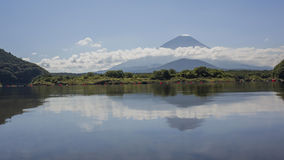 The famous Mt. Fuji at Kawaguchi, Japan. Around morning time royalty free stock images