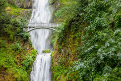 Famous Multnomah falls in Columbia river gorge, Oregon.  stock images