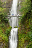 Famous Multnomah falls in Columbia river gorge, Oregon.  royalty free stock photos