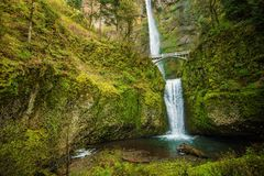 Famous Multnomah Falls stock photo