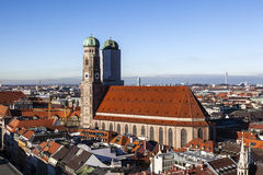 Famous Munich Cathedral - Stock Image