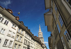The famous Munster Cathedral in Bern, Switzerland Royalty Free Stock Images