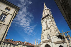 The famous Munster Cathedral in Bern, Switzerland Royalty Free Stock Image