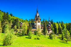 Famous museum in the forest,Peles castle,Sinaia,Romania,Europe Royalty Free Stock Image