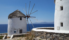 Famous Mykonos Windmill Royalty Free Stock Photo