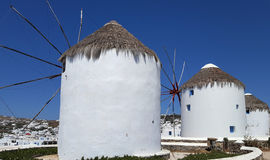 Famous Mykonos Windmills Royalty Free Stock Photography