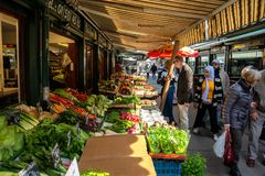 The Famous Naschmarkt in Vienna stock images