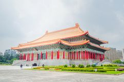 Famous National Theater Hall of Taiwan at National Taiwan Democracy Square of Chiang Kai-Shek Memorial Hall,Taipei, Taiwan. A Famous National Theater Hall of royalty free stock image