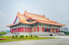 Famous National Theater Hall of Taiwan at National Taiwan Democracy Square of Chiang Kai-Shek Memorial Hall,Taipei, Taiwan stock photography