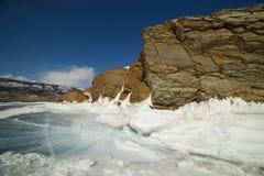 The famous natural landmark Deva Rock Virgin Rock at the northern Cape Khoboy Royalty Free Stock Image