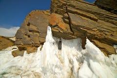 The famous natural landmark Deva Rock Virgin Rock at the northern Cape Khoboy Stock Photography