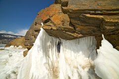 The famous natural landmark Deva Rock Virgin Rock at the northern Cape Khoboy Royalty Free Stock Photo