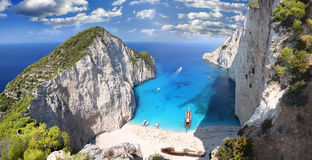 Free Famous Navagio Beach, Zakynthos, Greece Stock Photo - 22875770