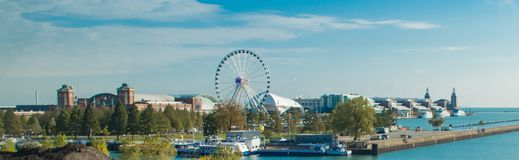 The Famous Navy Pier in Chicago stock photos
