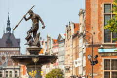 Famous Neptune Fountain At Dlugi Targ Square. Royalty Free Stock Images
