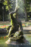 Famous neptune fountain inside Stock Photography