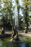 Famous neptune fountain inside. The Bolongaro Park Stock Photos